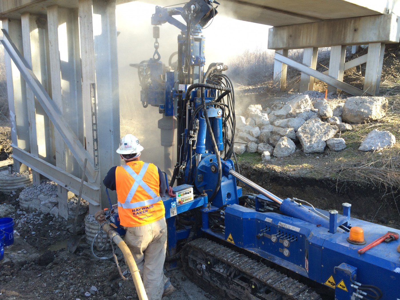 BNSF Bridge Sherman micropiles