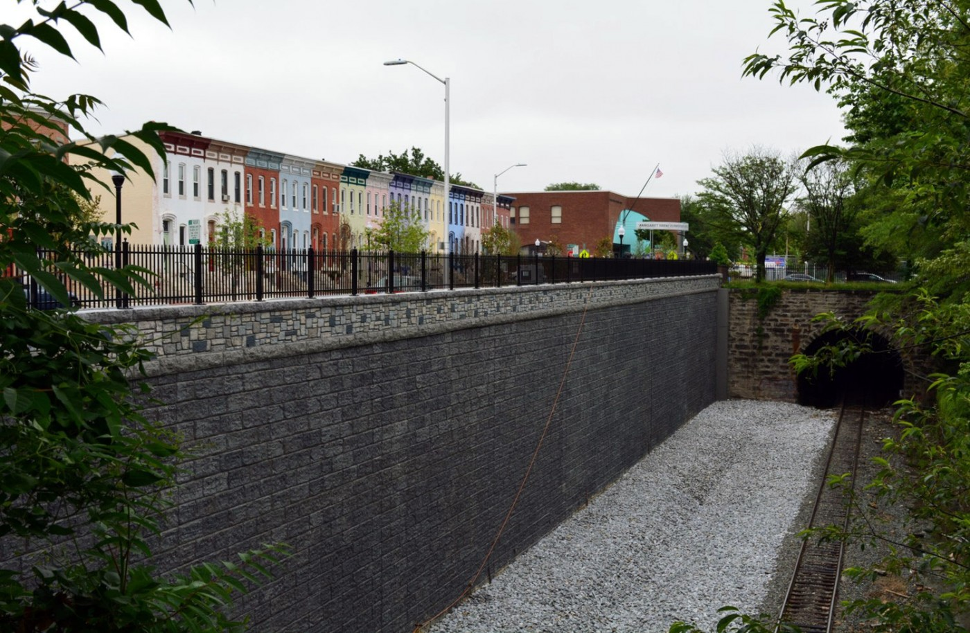 26th Street Emergency Repairs completed retaining wall