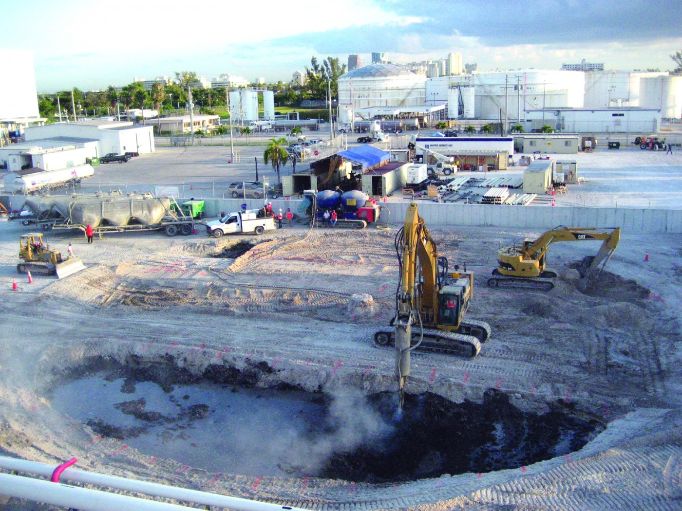 Port Everglades Fuel Storage Tanks dry soil mixing