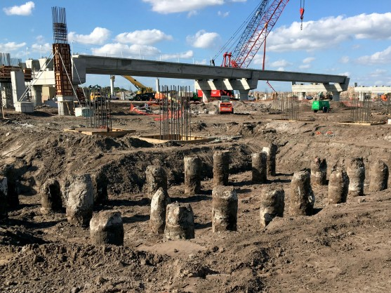 Orlando Airport Intermodal Facility displacement piles