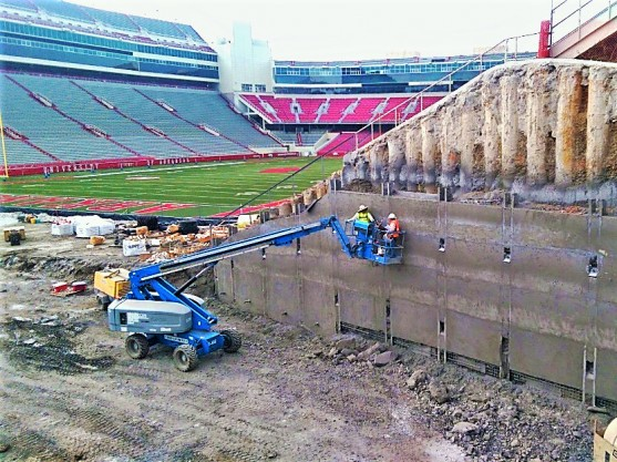 Working on the Razorback Stadium Upgrade
