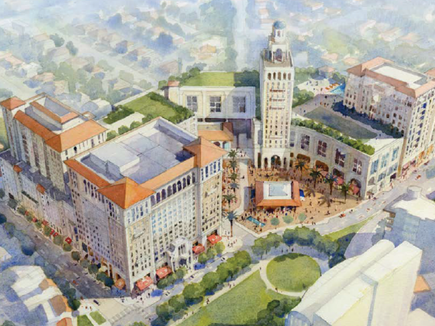 Plaza at Coral Gables rendering