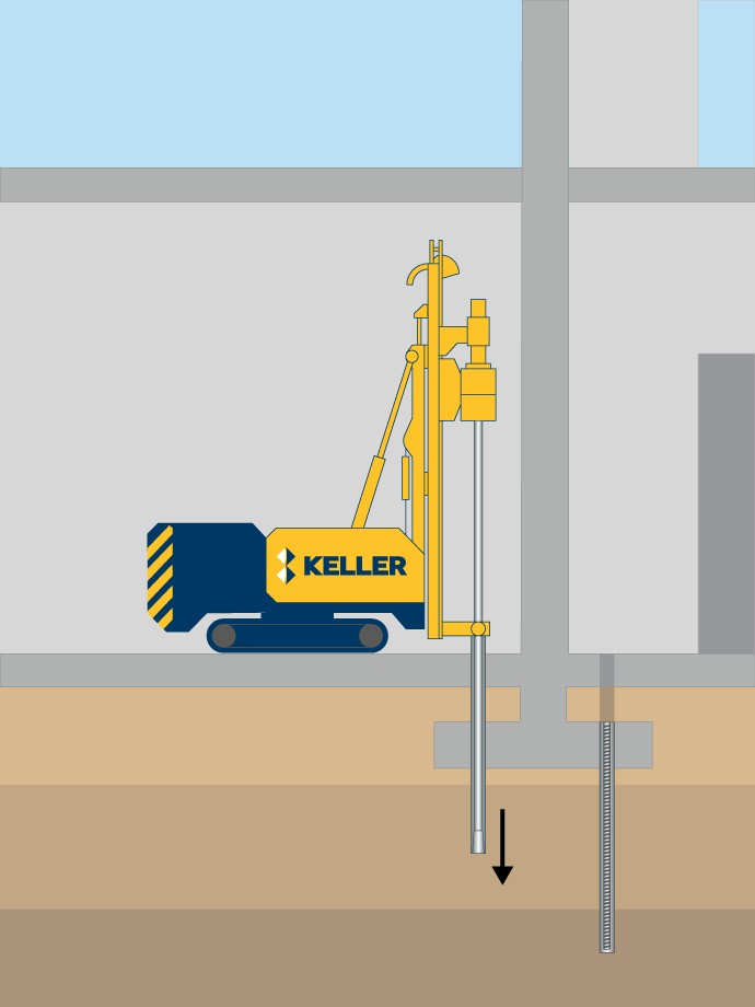 Micropiles technique illustration